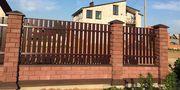 Забор из колотого кирпича LegoBrik
