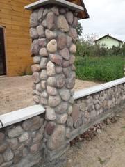 Заборы,  элементы благоустройства из камня натурального